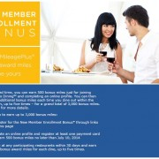 Mileage Plus Dining Bonus