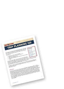 Sign up for weekly updates and we'll send our free printable guide: Trip Planning 101.