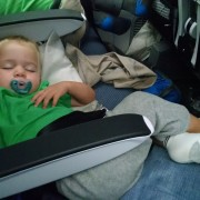 sleeping between armrests