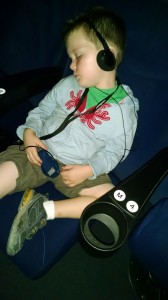 Fast asleep at the end of IMAX