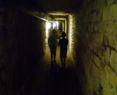 The quarry tunnel leading to the ossuary